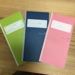 カクリエ3冊をトラベラーズノートのバンドで1冊にまとめて便利な手帳を作る