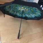 逆折式傘が想像以上に便利だった